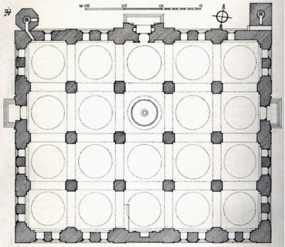 Bursa Ulu Cami Planı